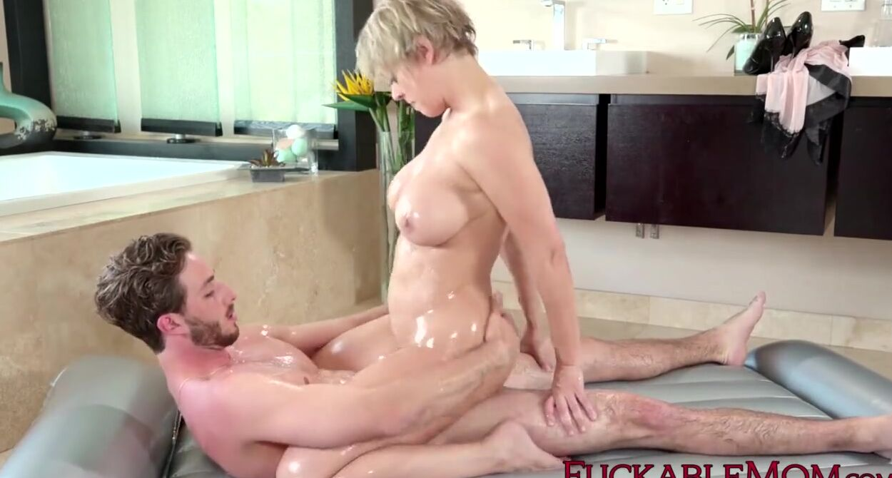 Hot Mom Massage Step Son