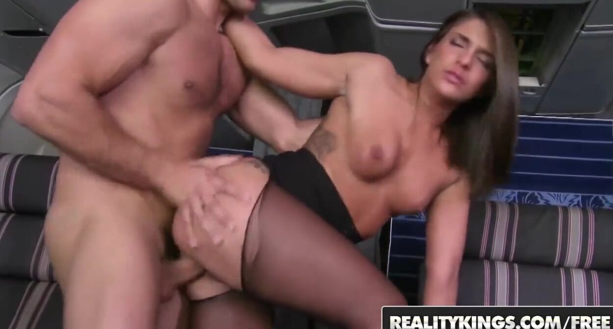A Very Special Hostess Porn gorgeous flight attendant, mischa is using an opportunity to