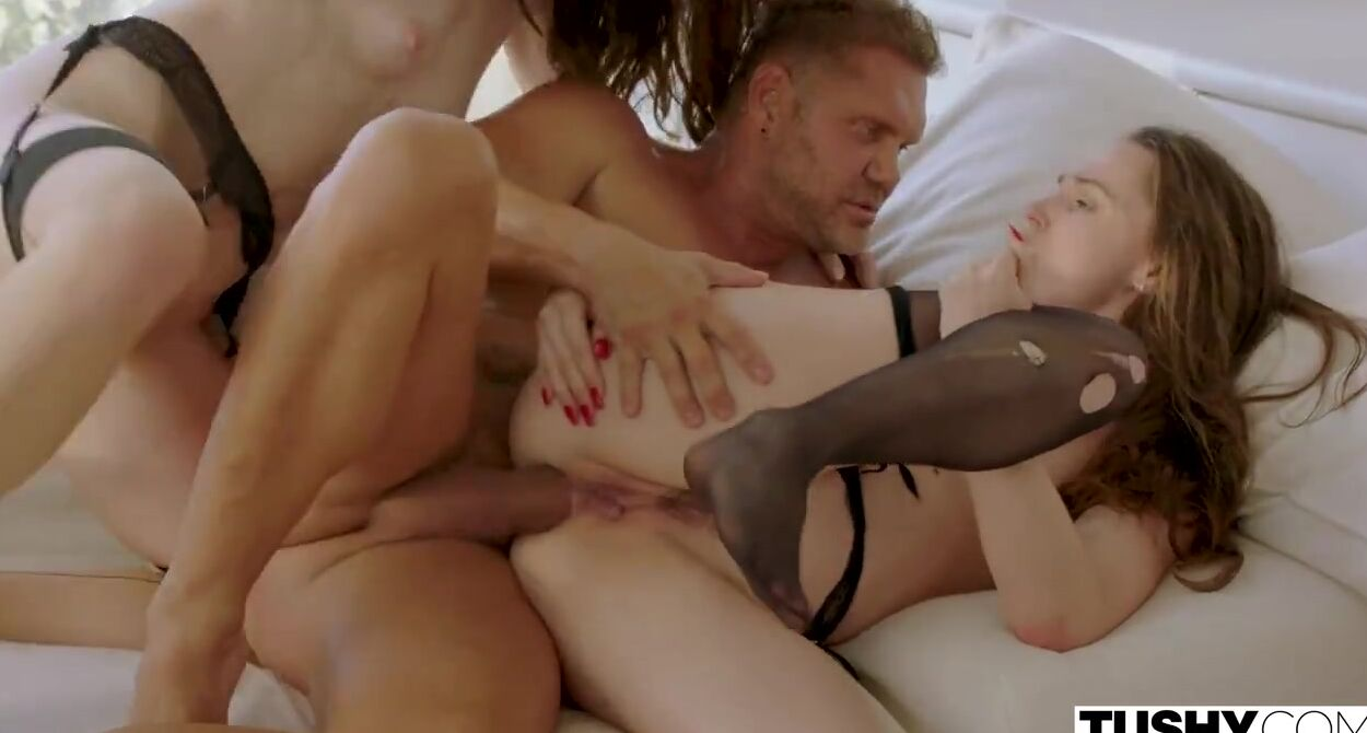 Pale Teen College Porn two pale babes, tori black and misha cross are making out