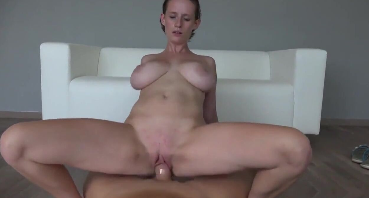 Babe On Porno Casting big titted babe went to a porn video casting and had the